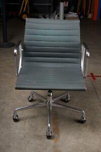 Herman Miller Eames Aluminium Group Management Chair Desk Dark Green Genuine