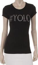 YOLO Rhinestone Iron on Bling Shirt