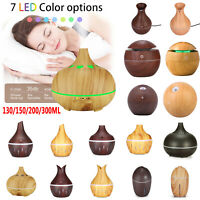 130-300ml Ultrasonic Aromatherapy Essential Oil Diffuser Home USB LED Humidifier