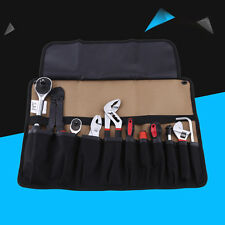 1pc Hardware Tool Roll Plier Screwdriver Spanner Carry Pouch Bag 10 Pockets xx