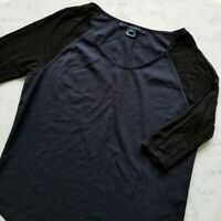 French Connection Navy/Black Top Size Medium