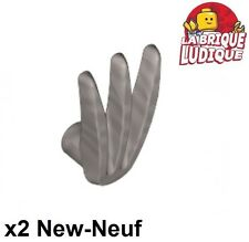 Lego - 2x minifig arme weapon griffe bladed claw argent/flat silver 10187 NEUF