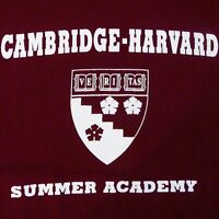 Harvard Graduate School of Education Cambridge Summer Academy T-Shirt Size M