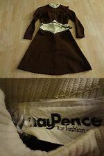 Women's Hay Pence S Vintage Brown & Beige Dress W/ Belt See Measurements