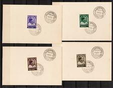 4 zegels BELGIE, TUBERCULOSEBESTRIJDING 1936 Boudwijn 1er jour émiss. (BEL 384)