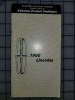 1986 Lincoln Advance Product Highlights Brochure