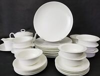 Set of (4) Wedgwood INSPIRATION Bone China White Dinner Plates 10 3/4""