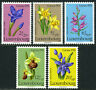 Luxembourg B308-B312, MI 936-940, MNH. Flowers. Gentian,Narcissus,Orchid,1976