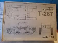 CIAGNIK ARTYLERYJSKI MAQUETTE A MONTER CHAR TANK T-26T 1/35 NEUF
