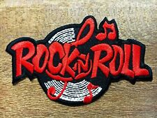 New Rock n Roll biker retro slogan rockabilly music applique iron on patch