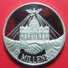 VATICAN ROMA 2000 MILLENNIUM .44oz SILVER PROOF MEDAL SAINT PETER BASILICA DOVE