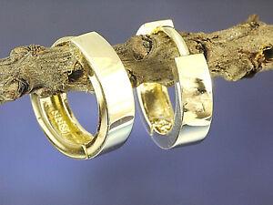 750 Gold Creolen kleine Scharnier Creolen 11mm x 2,5 mm 1 Paar
