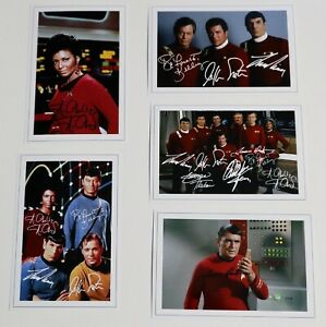 STAR TREK JobLot Bulk Set Autograph Signed PHOTO Prints Fan Gift Shatner Etc