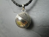 "Balinese Harmony Ball pendant genuine 925 silver 16mm ""Yin Yang"" with cord"