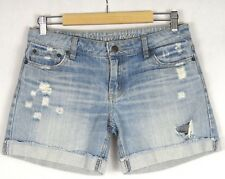 Russell Athletic Womens Distressed Blue Denim Shorts Size 10 100% Cotton