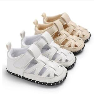 Baby Sandals PU Leather Lightweight Toddler Infant Newborn Boys Soft Soles Shoes