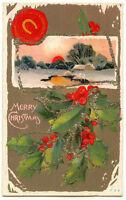 USA ca. 1910, Weihnachten/Merry Christmas, schöne Prägekarte/embossed postcard