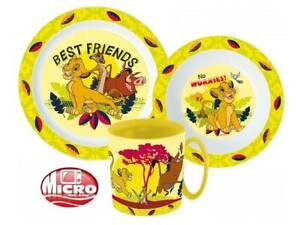 LION KING CHILDRENS KIDS TODDLERS 3 PC DINNER BREAKFAST SET PLATE BOWL MUG