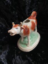 Staffordshire Pottery Cow Milk Jug Or Gravy Boat