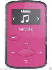 San Disk Clip Jam 8GB MP3 Player Pink Digital LCD Bildschirm Miniclip Musik