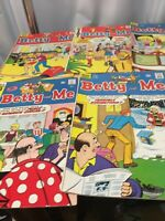 ARCHIE SERIES BETTY -ME COMIC BOOKS LOT OF 5