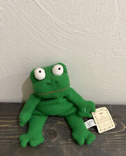 """RARE Russ Berrie 9.5"""" FRUGS Bean Bag Frog Plush Toy By The Heartcraft Collection"""
