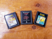Breakout, Combat & Pac-Man (Atari 2600 Lot) - Contacts Cleaned!  Authentic!