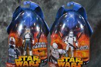 2005 Hasbro Star Wars Revenge Sith  CLONE PILOT & CLONE TROOPER  Action Figures