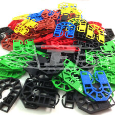100 PLASTIC HORSESHOE PACKING SHIMS LIGHT & HEAVY WINDOW PACKER SPACER WEDGE