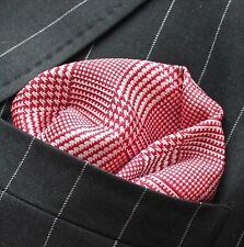 Hankie Pocket Square Handkerchief Red & White Check