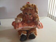 Marie Osmond Porcelain Collectible Miniature Pumpkin Spice Doll Necklace