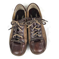 BORN W0578 Women's Brown Shoes Size 6M Oxfords Lace Up Leather Two Tone
