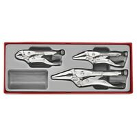 Teng Tools GIFT IDEA! Removable Lid box TTZ 3 Piece Self Locking Pliers Grip Set