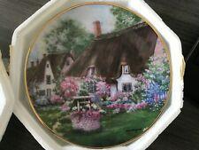 Franklin Mint Plate-Wishing Well Cottage-Violet Schwenig-heirloom Collection