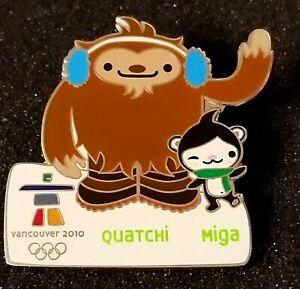 2010 Olympic Vancouver Quatchi  Miga mascot pin