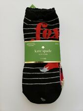 Kate Spade Socks 3 Pair No Show Foxy lady Fox Tail, Striped, & Colorblock NWT