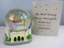 DISNEY SLEEPING BEAUTY MUSICAL Snow Globe Prince Charming Music box Please READ
