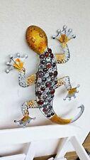 Wandanhänger Gecko Metall 62,5 x 17 x45 cm Groß Wanddeko Hauswand