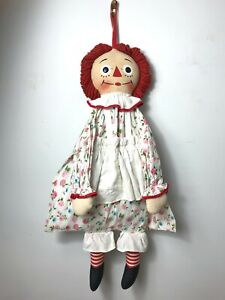 VINTAGE RAGGEDY ANN SLEEPOVER KNICKERBOCKER PAJAMA BAG DOLL