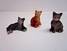 Fiddlehead Fairy Garden Miniature Cats, Set of 3, Georgetown Home Garden 16862