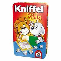 Schmidt Spiele Kniffel Kids, Bring-Mich-Mit-Spiel in Metalldose, Brettspiel