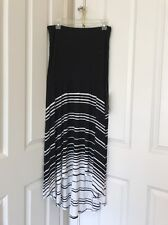 Womens INC International Concepts Striped  Blk/Wht Convertible Maxi Skirt Sz L