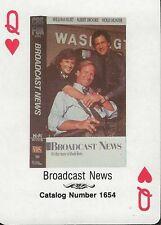 Broadcast News RARE 1988 CBS Fox Promotional Playing Card William Hurt