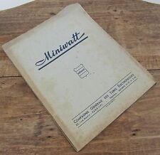 MINIWATT TUBES TELEVISION TSF 1948