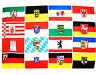 Fahne alle 16 Bundesländer BRD Querformat 90 x 150 cm auf einer Hiss Flagge