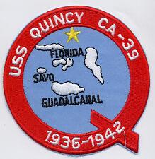 USS Quincy CA 39 - 1936-1942 BC Patch Cat. No. B985