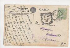 Burnham Bucks Single Ring Postmark & Maidenhead Squared Circle 22 Aug 1906 441b