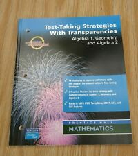 Test-Taking Strategies with Transparencies for Algebra 1, Geometry, and Algebra