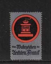 403824/ Reklamemarke - Das Wahrzeichen des Aechten Franck - Kaffemühle