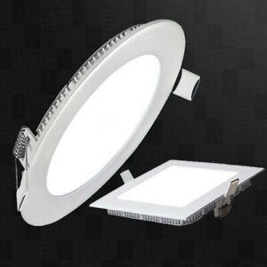 Panneau LED Rond / Carré Super Mince Spots Encastrables Plafonnier